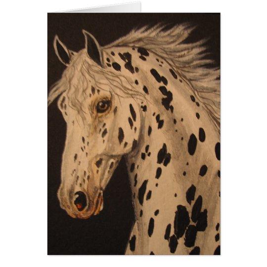 Tarjeta del caballo del Appaloosa del leopardo