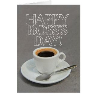 Tarjeta del café del día de Boss