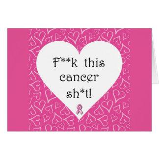 Tarjeta del cáncer de F*ck