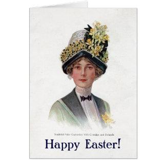 Tarjeta del capo de Pascua del vintage