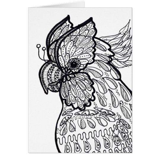 Tarjeta del Cockatoo
