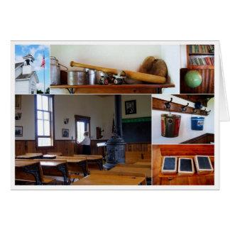 Tarjeta del collage de la casa de la escuela del