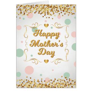 Tarjeta del confeti del día de madre
