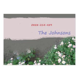tarjeta del contacto de la familia tarjetas personales