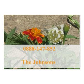tarjeta del contacto de la familia tarjeta de visita