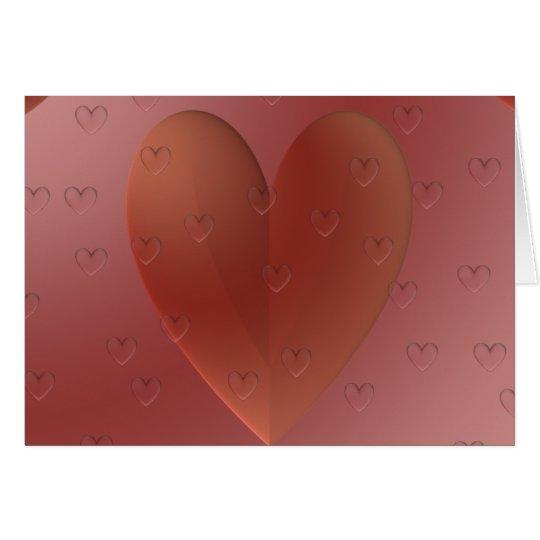 Tarjeta del corazón