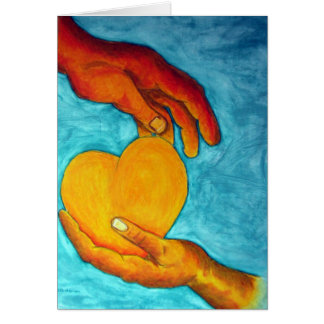 Tarjeta del corazón de oro