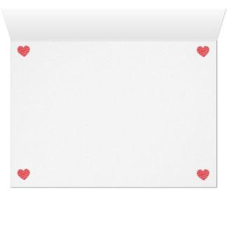 Tarjeta del corazón del garabato
