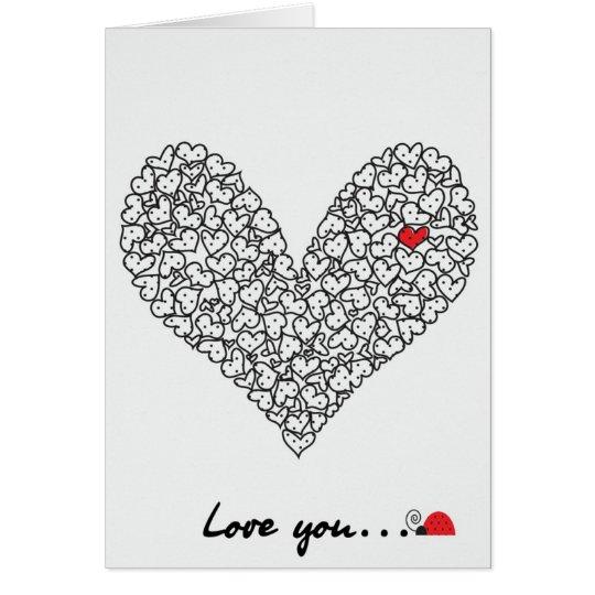 Tarjeta del corazón, tarjeta del el día de San