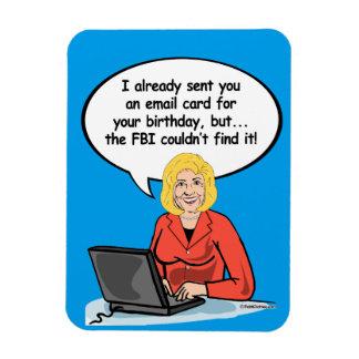 Tarjeta del correo electrónico del cumpleaños de imán flexible