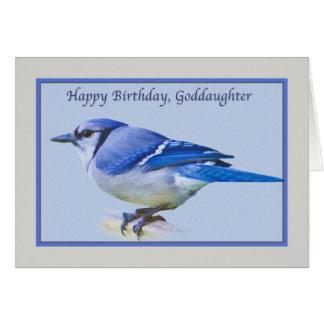 Tarjeta del cumpleaños de la ahijada con el pájaro
