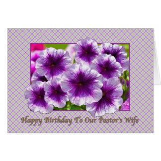 Tarjeta del cumpleaños de la esposa del pastor con