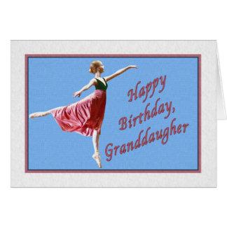 Tarjeta del cumpleaños de la nieta con la