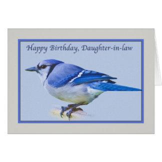 Tarjeta del cumpleaños de la nuera con el pájaro d