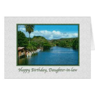 Tarjeta del cumpleaños de la nuera con el río