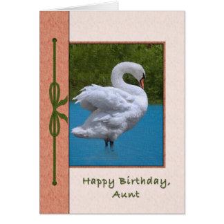 Tarjeta del cumpleaños de la tía con el pájaro del