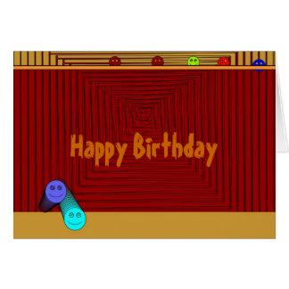 Tarjeta del cumpleaños de los >Children sonrientes