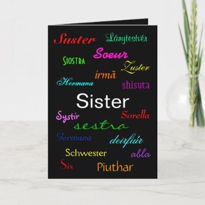 Cumpleaños a una hermana