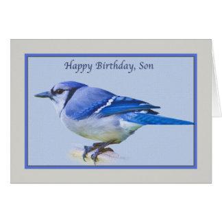 Tarjeta del cumpleaños del hijo con el pájaro del