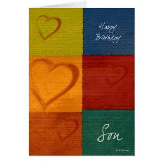 Tarjeta del cumpleaños del hijo de los colores y