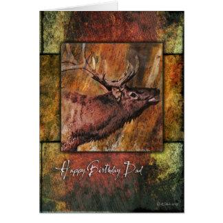 Tarjeta del cumpleaños del padre de la fauna de