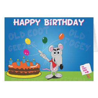 Tarjeta del cumpleaños divertida de la persona