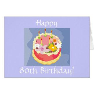 Tarjeta del cumpleaños feliz de la diva 80.a