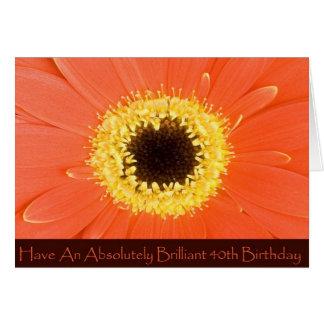 Tarjeta del cumpleaños floral de la diva 40.a para