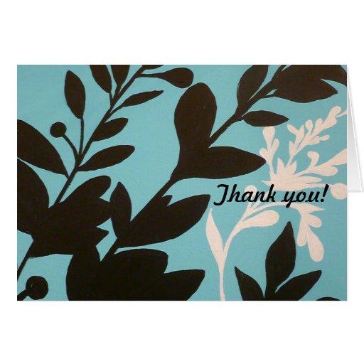 Tarjeta del de agradecimiento, arte original moder