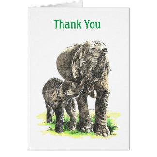 Tarjeta del de agradecimiento de Elephand