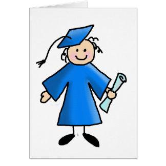 Tarjeta del de agradecimiento de la graduación