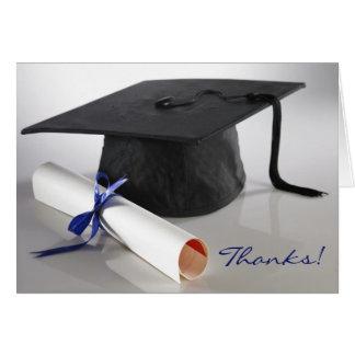 Tarjeta del de agradecimiento de la graduación de