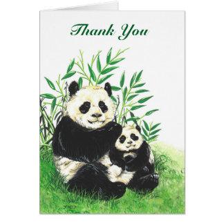 Tarjeta del de agradecimiento de la panda