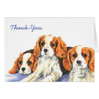 Tarjeta del de agradecimiento de los perritos del