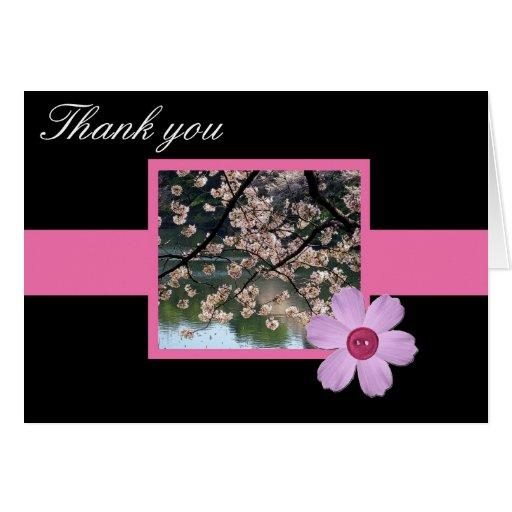 Tarjeta del de agradecimiento de Sakura