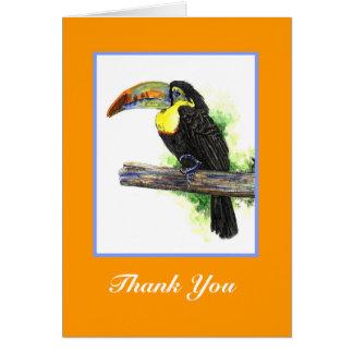 Tarjeta del de agradecimiento de Toucan
