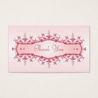 Tarjeta del de agradecimiento del boda