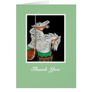 Tarjeta del de agradecimiento del caballo del
