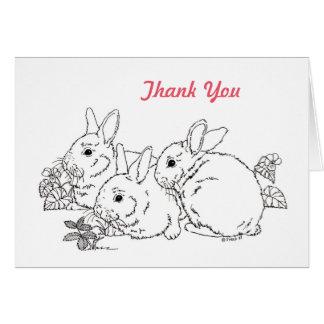 Tarjeta del de agradecimiento del conejo