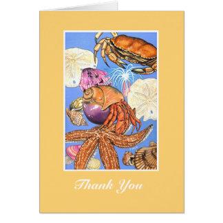 Tarjeta del de agradecimiento del Seashell