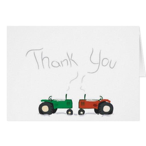Tarjeta del de agradecimiento del tractor