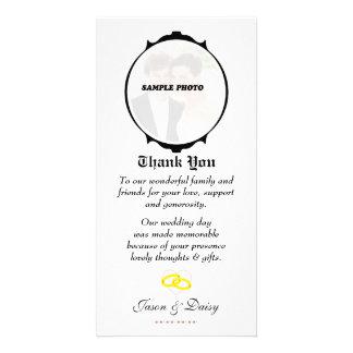 Tarjeta del de agradecimiento tarjetas fotograficas personalizadas