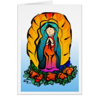 Tarjeta del de Guadalupe de la Virgen del La