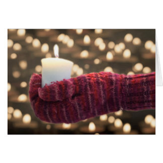 tarjeta del día de fiesta con las velas