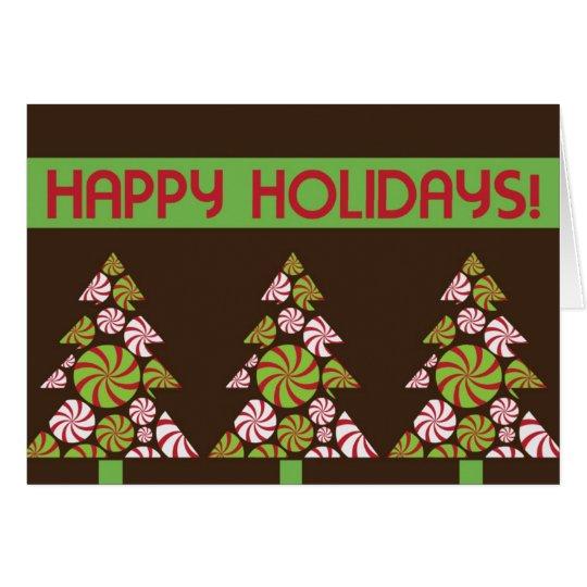 Tarjeta del día de fiesta de 3 árboles de navidad