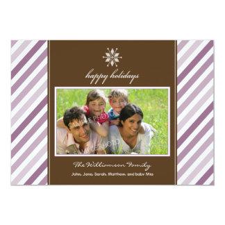 Tarjeta del día de fiesta de la familia de la anuncios personalizados