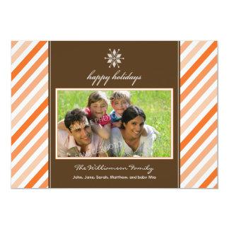 Tarjeta del día de fiesta de la familia de la invitacion personalizada