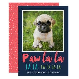Tarjeta del día de fiesta de la foto del mascota invitación 12,7 x 17,8 cm