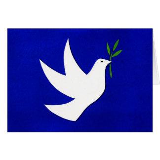 """Tarjeta del día de fiesta de la """"paz"""" por los"""