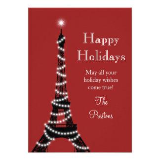 Tarjeta del día de fiesta de la torre Eiffel del Invitaciones Personalizada